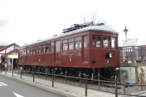 富士山麓電気鉄道が開業時に導入したモ1形電車。【撮影:草町義和】